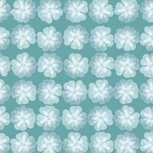 简约素雅清新蓝底小白花 四方连续图案