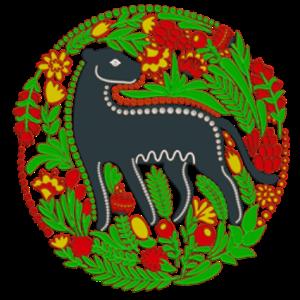 刺绣印花黑豹