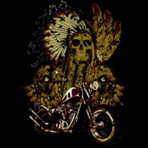 摩托车与骷髅