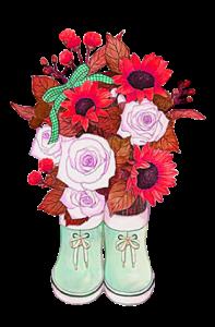 Shoe bottle flower